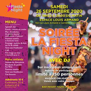 La soirée Fiesta Night - Le 26 septembre 2020 ! Ne la ratez pas !