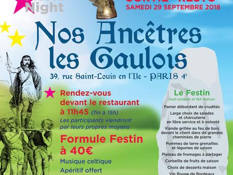 """Déjeuner, """"Nos Ancêtres les Gaulois"""" 29 Sept 2018 !"""