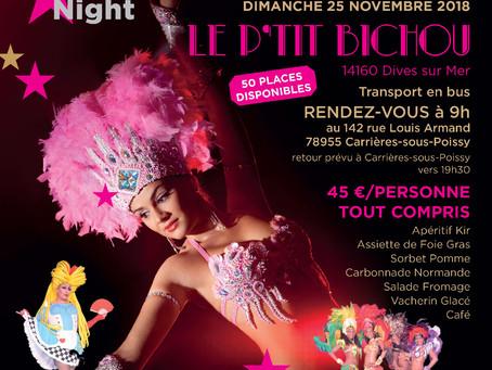 """Sortie """"Cabaret"""" Dimanche 25 Novembre à Dives Sur Mer !"""