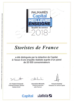 Storistes de France élue meilleure enseigne 2018 « stores et vérandas »