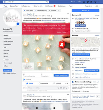 Facebook - Corinne LAURIER Formation