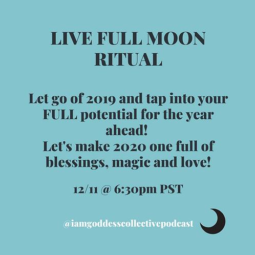 Full Moon in Gemini Online Ritual