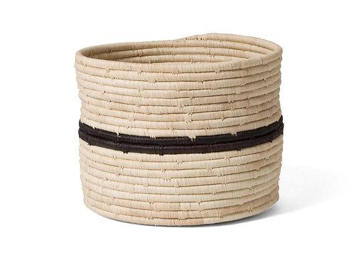 Striped Black + Natural Storage Basket III