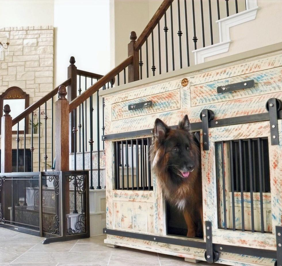 Custom Large Single, Barn Doors & Drawers