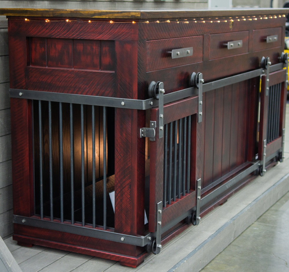 Custom Double, Barn Doors & Drawers