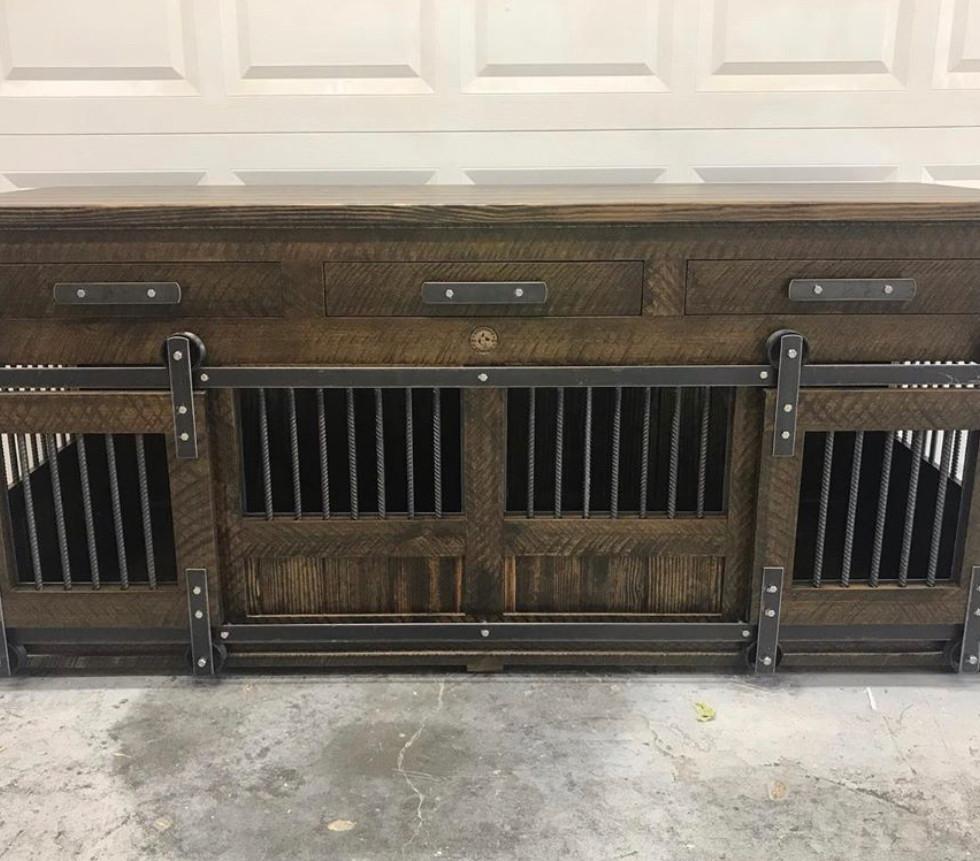 Medium Double, Barn Doors & Drawers