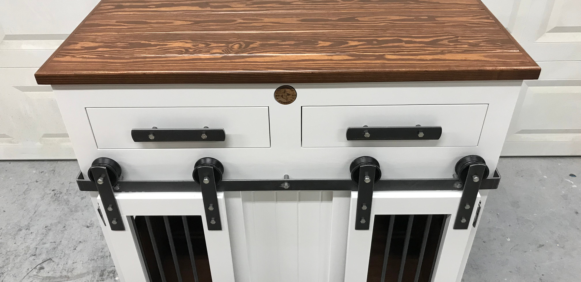Custom Medium Double, Barn Doors & Drawers