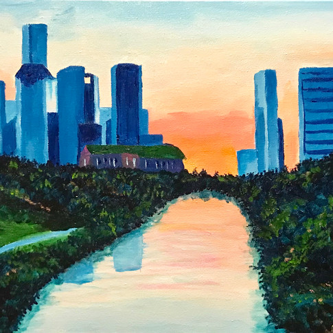 Houston Skyline at Dawn