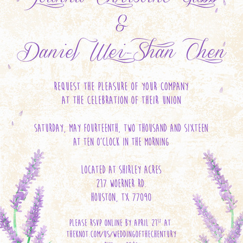 Wedding Invitations for the Chens