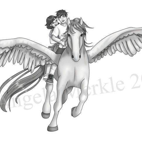 Alex and Stacey Ride Pegasus