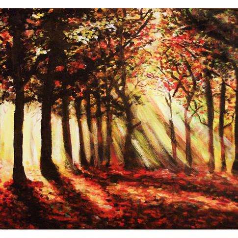 Autumn in Acrylic