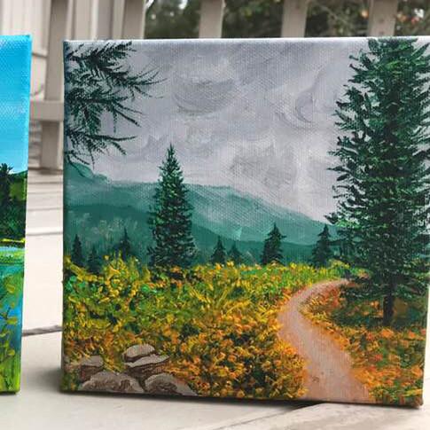Colorado Scenes in Acrylic