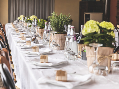 Fine Dining at Home - Table Linen Hire Wiltshire