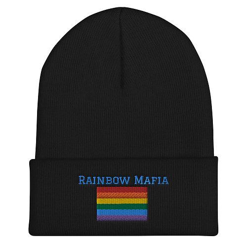 Rainbow Mafia Cuffed Beanie