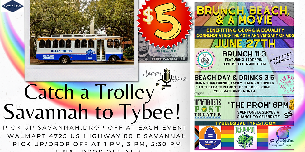 Trolley for Brunch, Beach, & the Movie