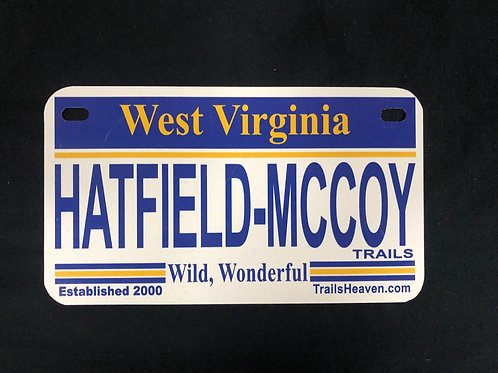 WV Hatfield McCoy Trails License Plate