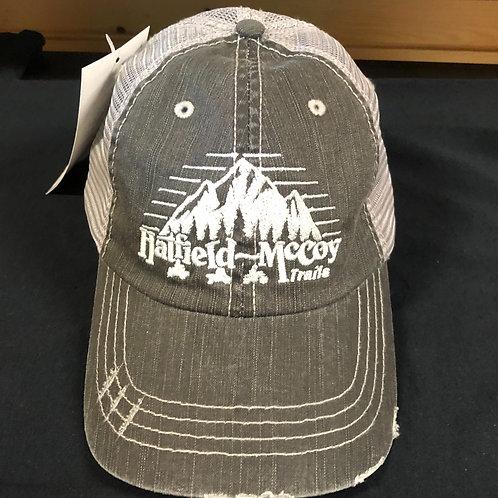 Grey Distressed Hat- Hatfield McCoy Trails