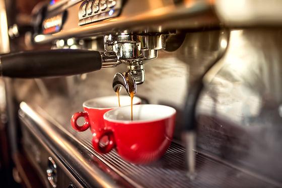 coffee machine preparing fresh coffee an