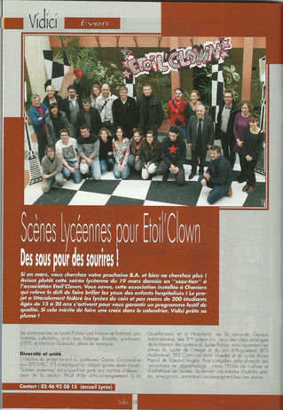"Articles de presse ""Etoil' Clown"""