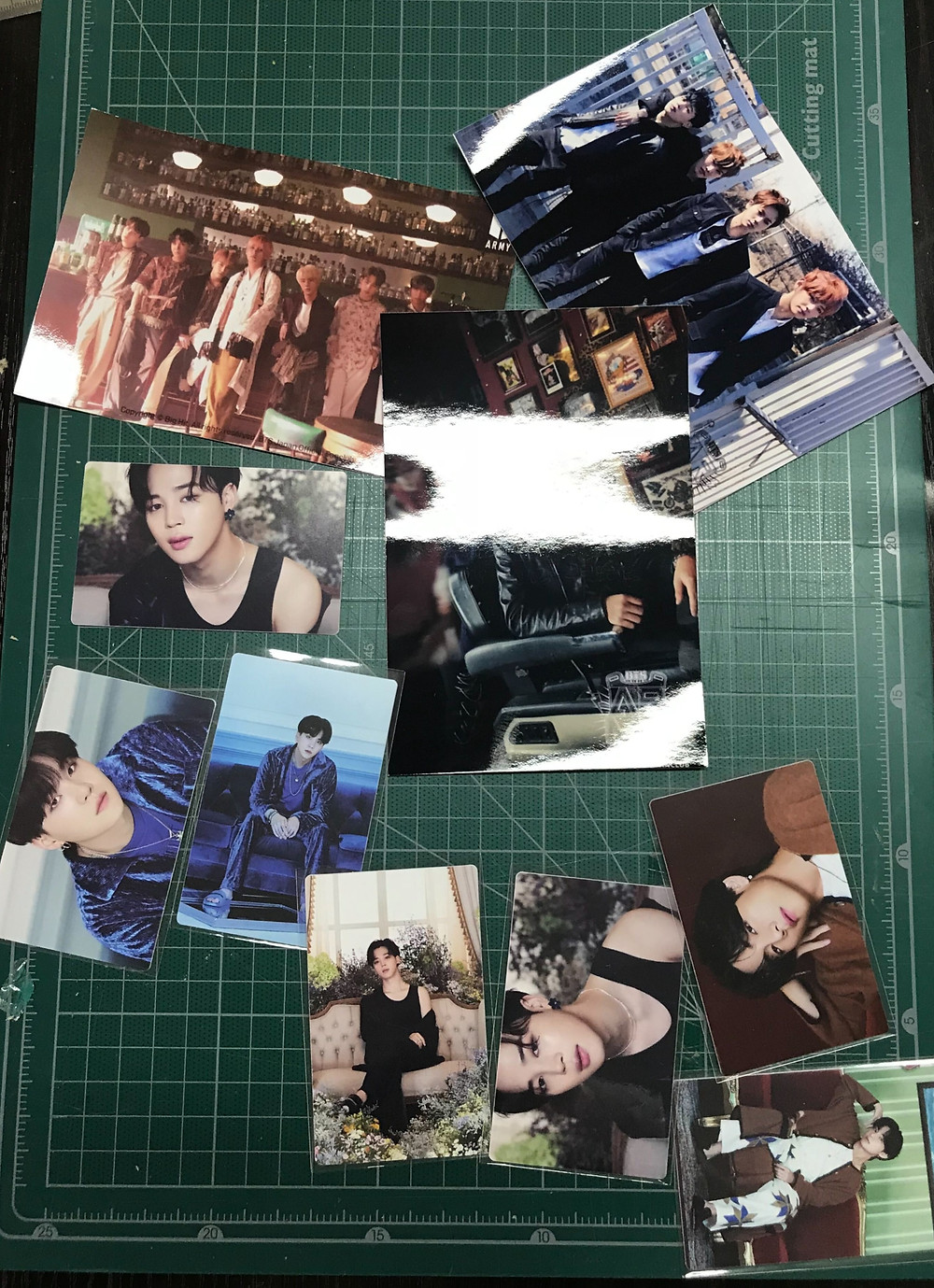 "BTS ""BE"" album photocards"
