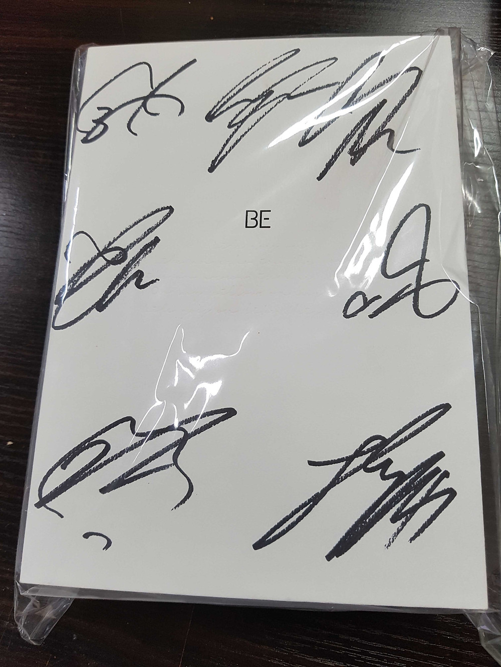 "BTS Signed ""Be"" Album"