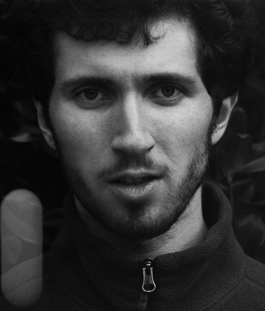 Corentin Boissier, black and white