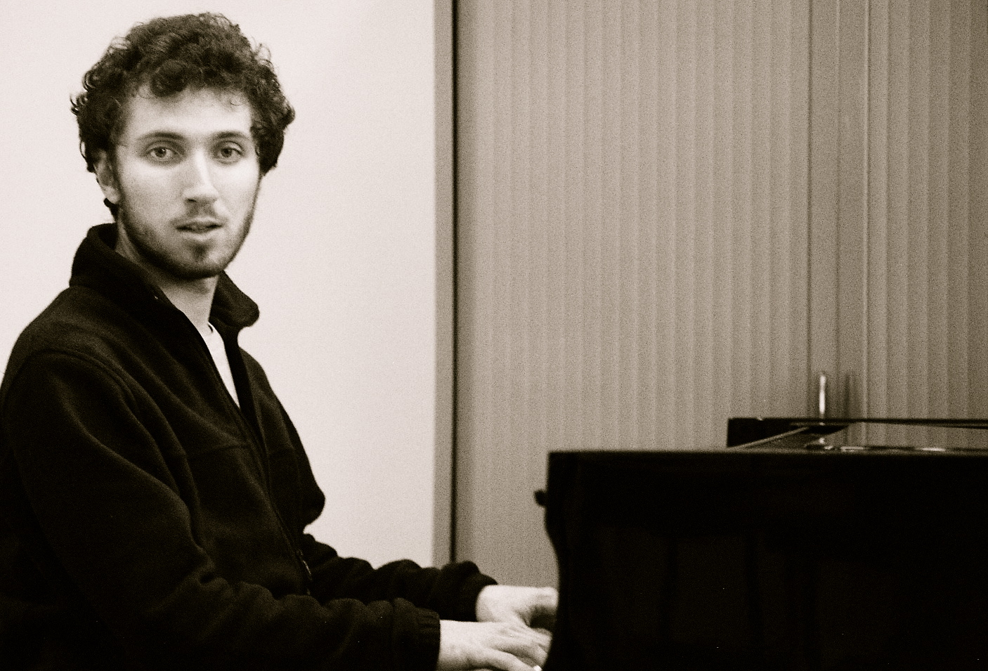 Corentin Boissier at the piano, 2015