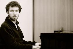 Corentin Boissier at the piano, 2015