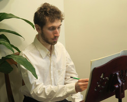 Corentin Boissier at the music stand, 2021