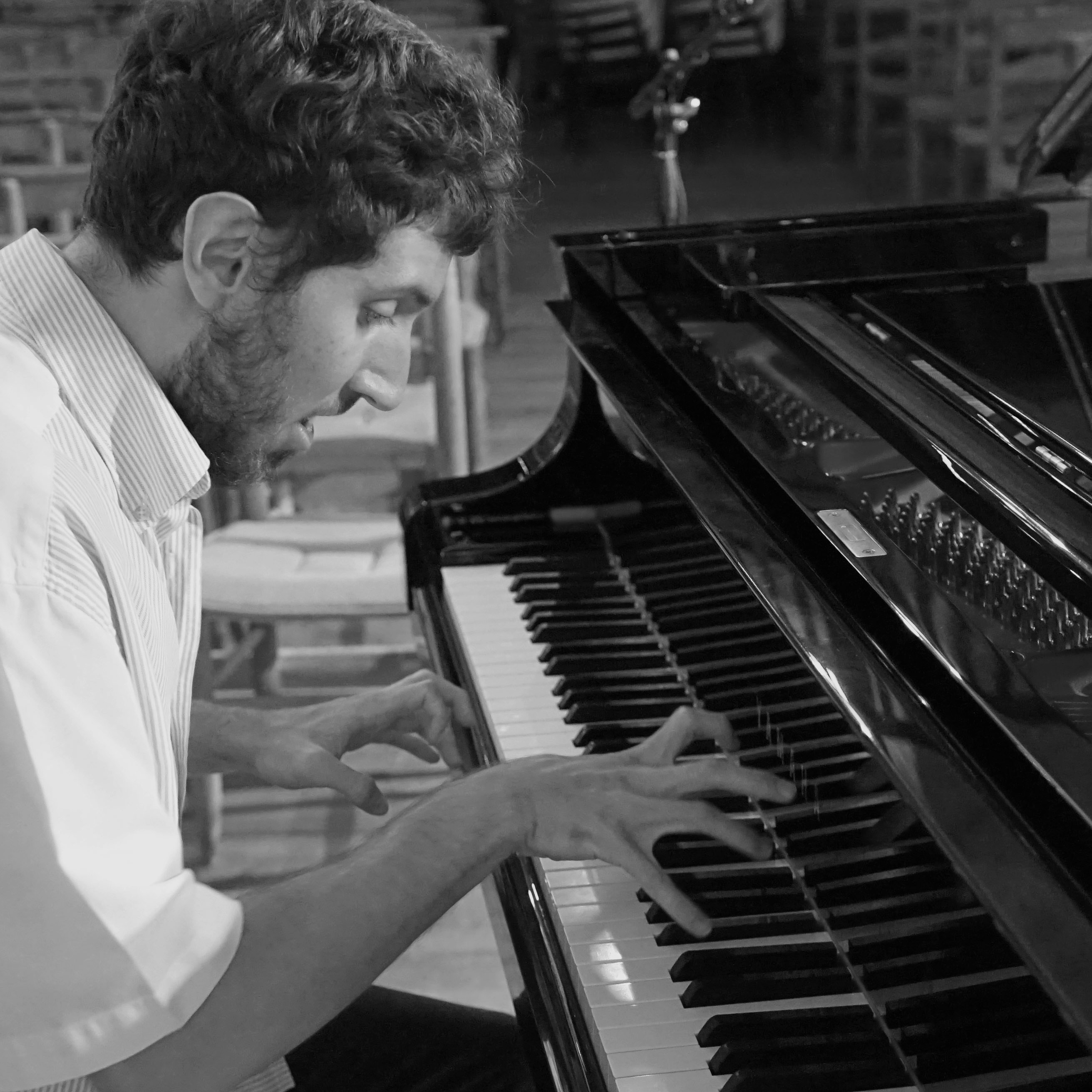 Corentin Boissier at the piano, 2019