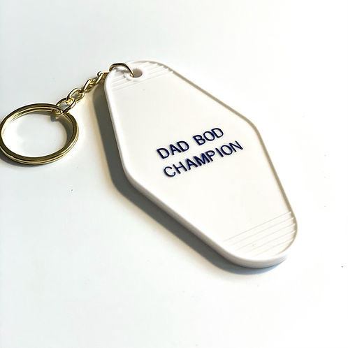 Dad Bod Champion Keychain