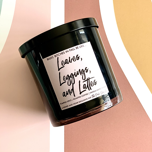 Leaves, Leggings, and Lattes Candle