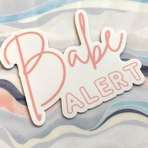 Babe Alert Die Cut Sticker