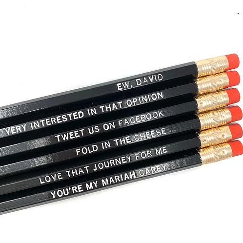 Let's Get Schitty Pencil Set