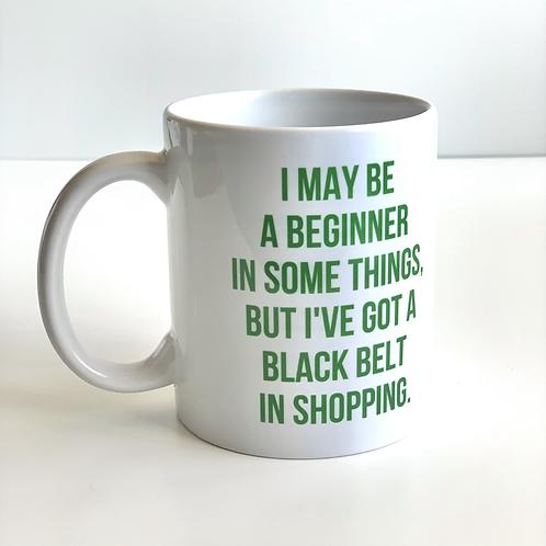 Black Belt In Shopping Mug