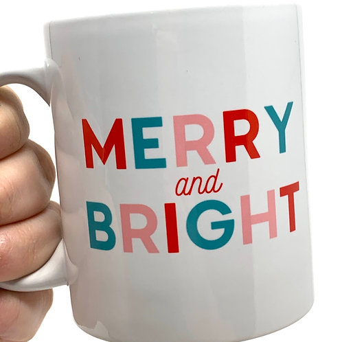 Merry and Bright Holiday Mug