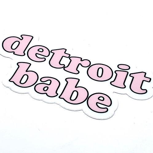 Detroit Babe Sticker
