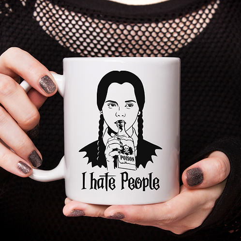 Wednesday Addams I Hate People Mug