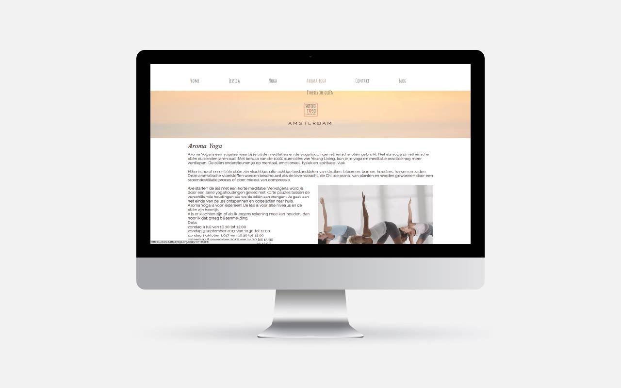 Webdesign Project Sattva Yoga