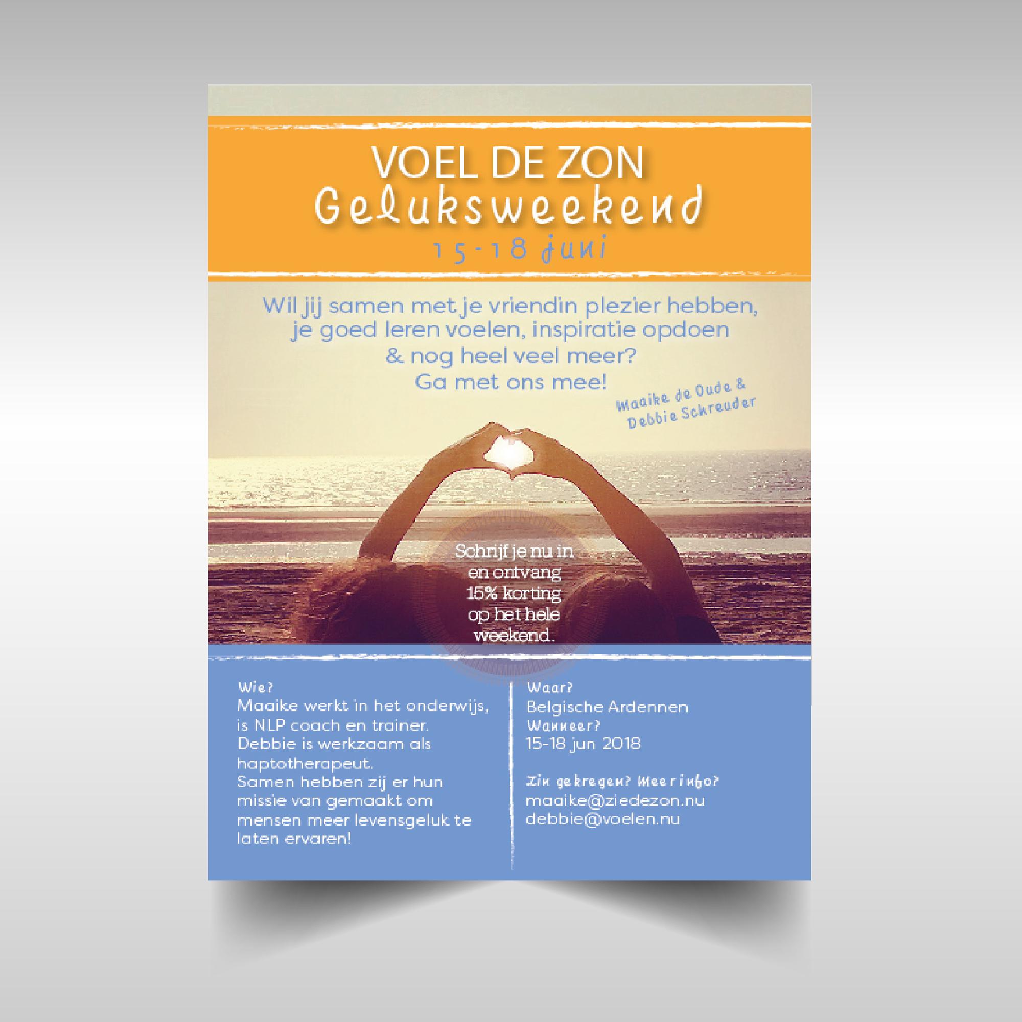 Flyer ontwerp voor Voel de Zon