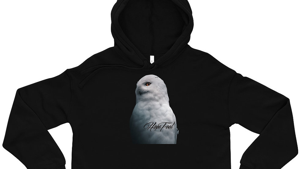 """Nocturnal"" Artie Owl Crop Hoodie"