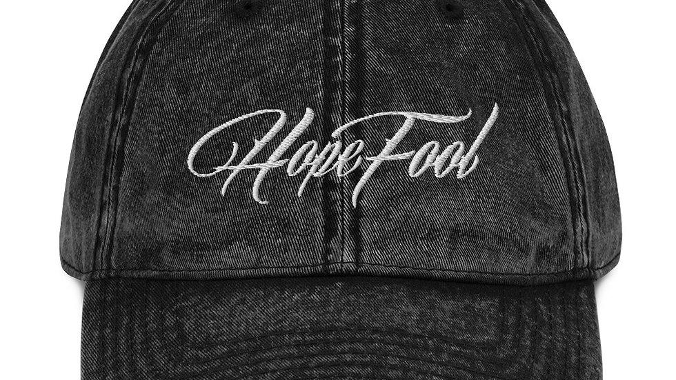 Vintage Cotton HopeFool Twill Cap
