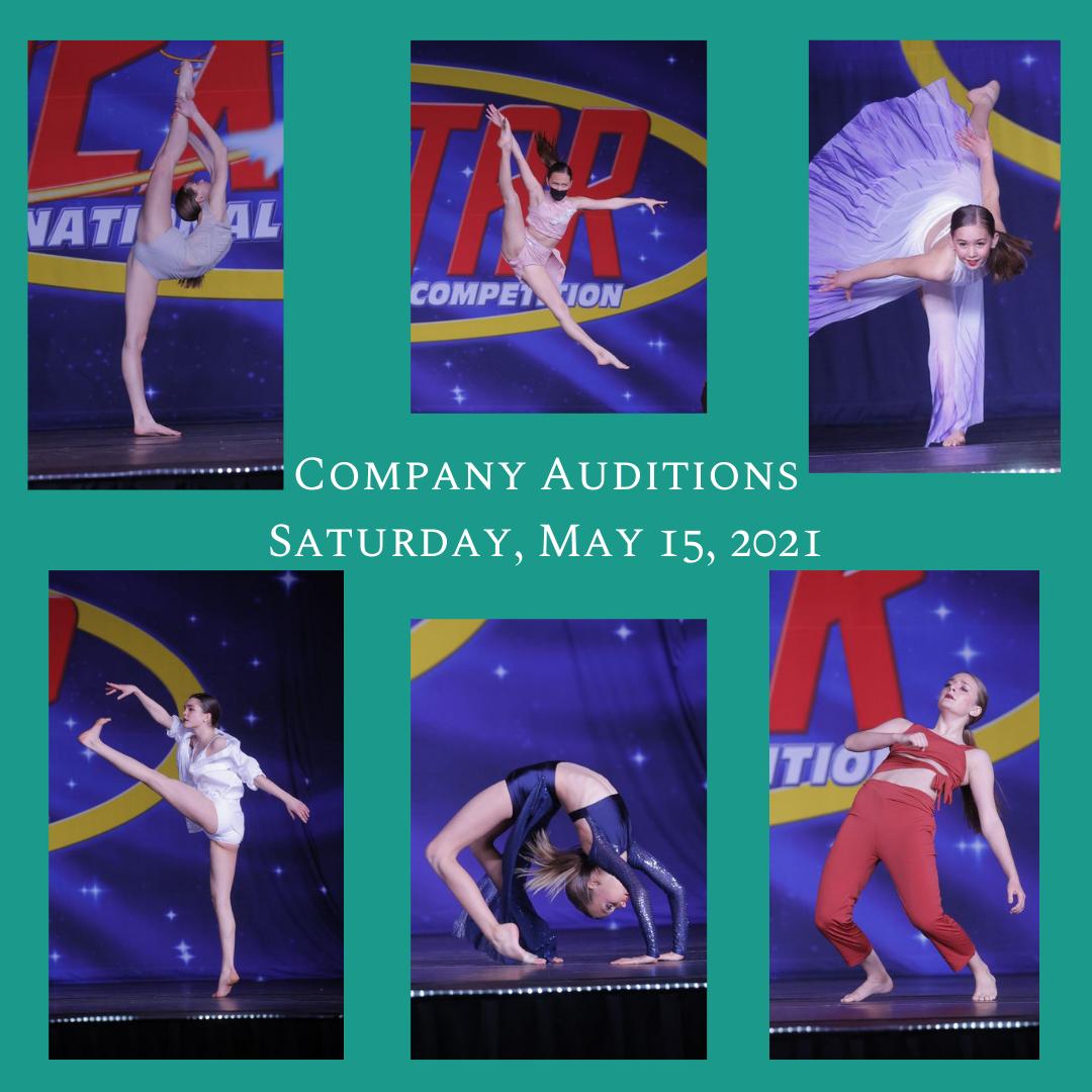 Company Auditions Saturday, May 15 2021.