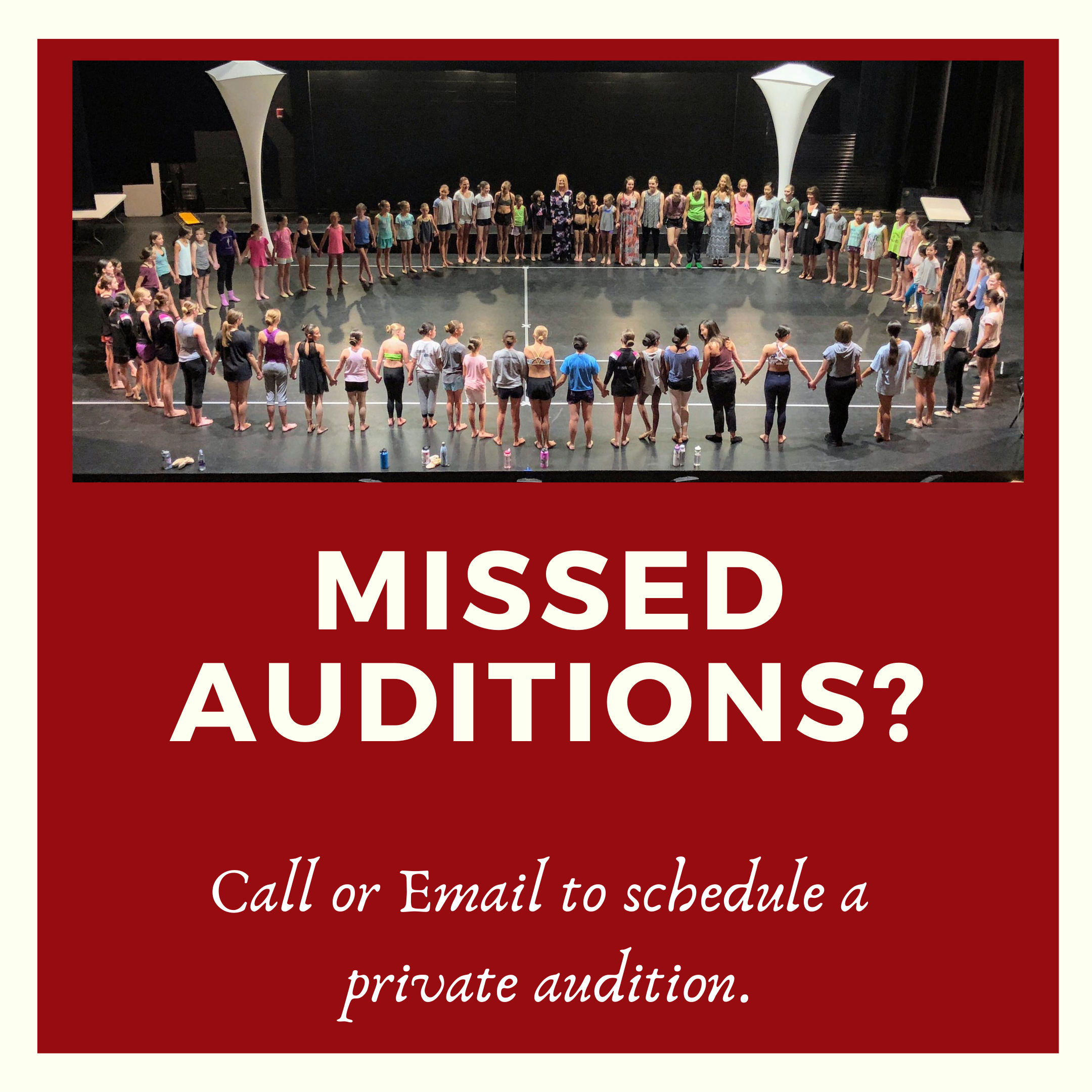 Missed auditions_