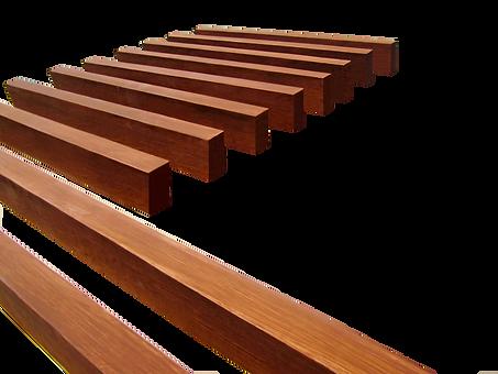 Vigas de Fibra de Vidrio, imitacion madera