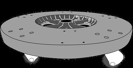 dimensiones de base con rueda