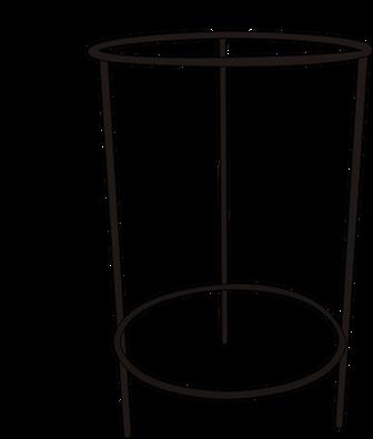 Dimensiones Base tres patas varilla redonda de 3/8