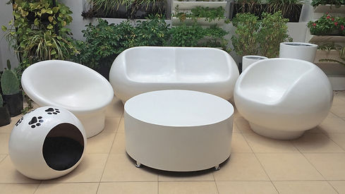 Muebles y decorativos hechos de Fibra de Vidrio en Monterrey