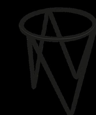 dimensiones Base tres patas triangular varilla cuadrada de 3/8