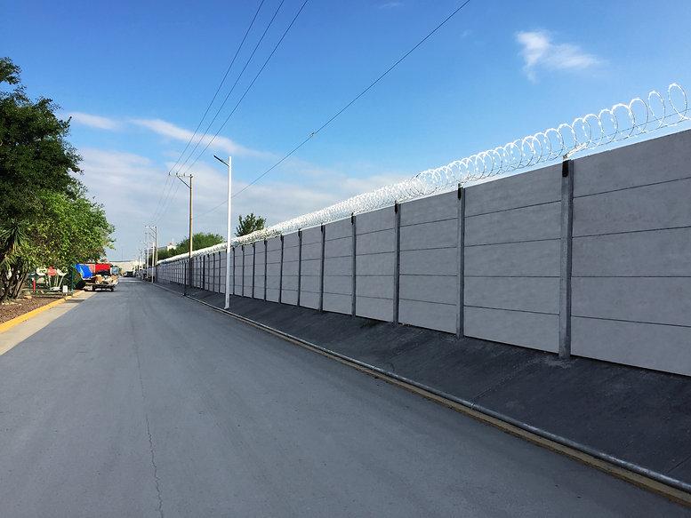 Muro prefabricado de concreto de alta seguridad